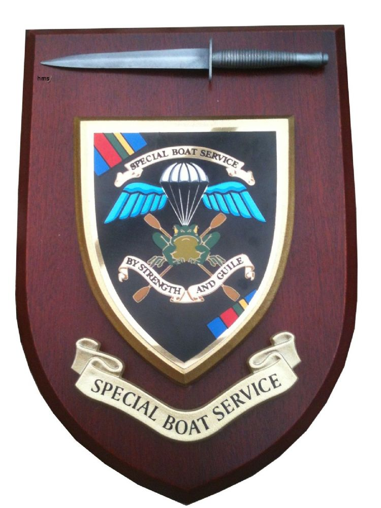 Sbs Special Boat Service Regimental Military Wall Plaque